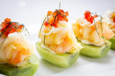 Shrimp with Kiwi