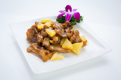 Sautéed Pork Ribs in Orange Sauce