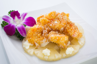Shrimp with Pineapple Salad