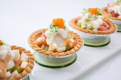 Lobster & Fruit Tarts