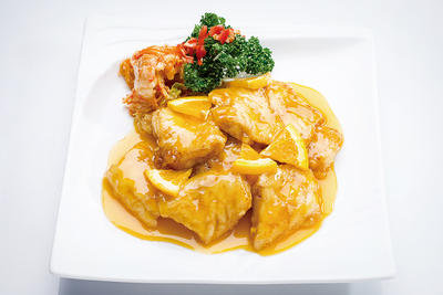Sautéed Kohler's Grouper in Orange Sauce