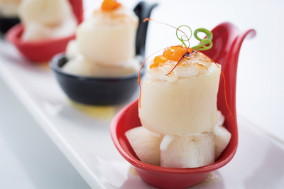 Scallops with Pears