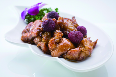 Roasted Pork Ribs in Plum Sauce