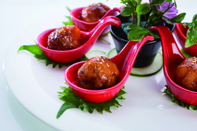 Sautéed Pork & Grape in Sweet and Sour Sauce